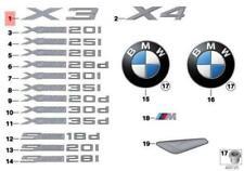 NEW OEM BMW F25 F26 SAC Trunk Lid X3 Emblem Badge Logo Sign 51147362473