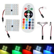 2Pcs 36 LED 5050 SMD RGB Light Car Reading Remote Control Bulb T10 Festoon BA9S