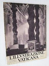 ILLUSTRAZIONE VATICANA rivista 28 febbraio 1931 arte fotografia storia religione