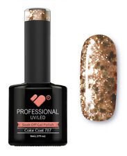 787 VB Line Gold Cooper Glitter - gel nail polish - super gel polish