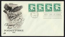 #2112 'D' Eagle-Strip of 4, Art Craft FDC **ANY 4=FREE SHIPPING**