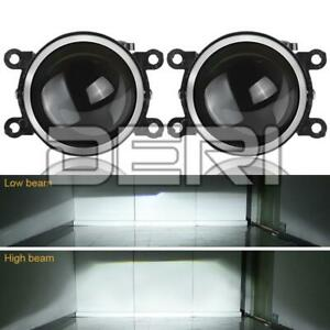 2X 3in Fog Light Projector Lens For SUBARU DACIA MITSUBISHI RENAULT NISSAN FIAT