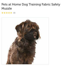 Pets At Home Black Fabric Safety Muzzle Dog Size Medium Training