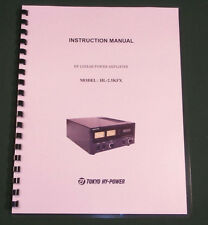Tokyo Hy-Power HC-2.5KFX Instruction Manual - Card Stock Covers & 28lb Paper!