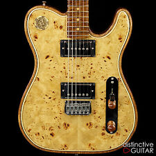 BRAND NEW WALLA WALLA GUITARS MAVERICK PRO CRYSTAL WHISKEY BURL CUSTOM SHOP TONE