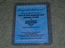 2020 Bowman Draft Austin Hendrick Class of 2020 Chrome Gold Refractor Auto /50