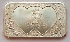 1973 FIRST LOVE SILVER .999 FINE ONE OUNCE MOTHER LODE MINT BAR