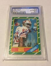 1986 86 Topps JERRY RICE AUTOGRAPH/AUTO RC/ROOKIE 49ERS #161 PSA/DNA AUTHENTIC