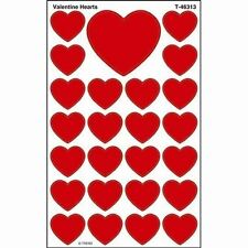 200 Valentine Hearts SuperShapes Teacher Reward Stickers - Large