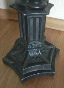 filigraner Kerzenleuchter Zinn Neogotik Neugotisch 1880 Kirchenleuchter Maßwerk