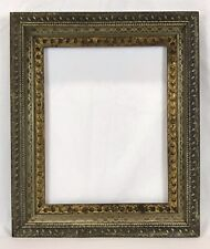Antique Late 19th C Victorian Ornate Silver & Gold Frame 11 x 14 Opening