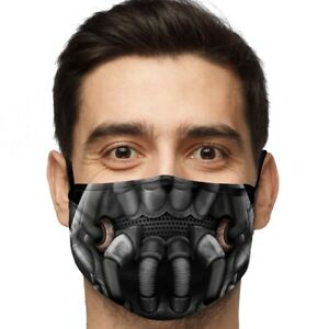 Bane Polyester Viscose  Adjustable Face Mask (Large)