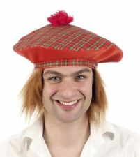 Scottish tartan fancy dress hats in assorted styles and colours BNWT