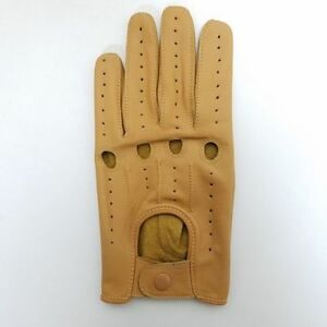 Driving Gloves Tan Genuine Leather Perfect Fit Top Quality Soft Leather Product