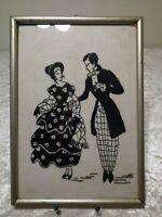 Palillos En Scherenschnitt-Design - Vintage - Mujer Y Hombre con Estilo Rococó