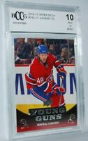 2010-11 Upper Deck #232 Young Guns YG J.T. Wyman Rookie RC BCCG 10 Montreal