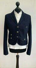 ZARA Blue Wool Military Blazer L UK10-12
