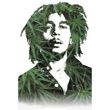 "Bob Marley Leaves Poster - 24""x 36"""