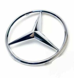 Mercedes Front Grille Badge Silver Chrome A C GLA CLA ML CLS E Class Star Clip