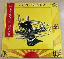 SLICKEE BOYS Here to Stay (1982) LP Line GERMAN White Vinyl Garage Punk RARE