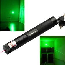 10 Mile Military Green 1mW 532nm Laser Pointer Pen LED Light Focus Visible Beam