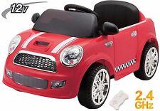Auto Macchina Elettrica Bambini Mini Car Soft Start Radiocomandata 12V Rossa