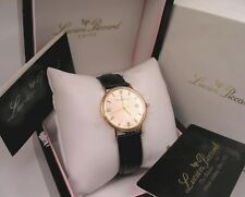 Lucien Picccard  Mens Solid 18K Rose Pink Gold Watch Swiss Made w Boxes & Papers
