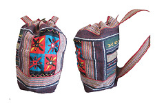 WOMENS GIRLS BOHO HIPPIE STYLE EMBROIDERED HOLIDAY FESTIVAL BACKPACK BAG