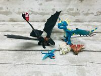 How to Train your Dragon Toothless, Stormfly Bewilderbeast Action Figures Bundle