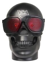 Portable Bluetooth LED Fashion Skull Speaker with FM Radio MicroSD - Black