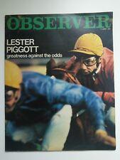 Rare August 1967 Observer  - LESTER PIGGOTT by Hugh McLlvanney/Gerry Cranham