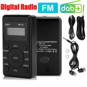 Portable DAB DAB+ Receiver Digital FM Radio Boardcast LCD With USB Headset AUX