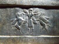 Mesopotamia Assyrian cylinder seal impression - Hero wrestling winged griffins