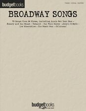 Broadway Songs Sheet Music Budget Books Piano Vocal Guitar Songbook N 000310832