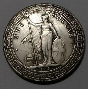 1911 British Trade Dollar Queen One Dollar Coin replica
