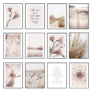 Modern Minimalist Wall Art Print Bedroom Living Room Flower Poster Picture Decor