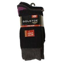 Gold Toe Men's Socks #2 Black Cotton Nylon Spandex Blend 4 Pack Sock Set, New