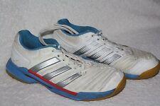 Adidas Adipower Stabil  Gr. 39 / 40 blau weiß Damen Handballschuhe Hallenschuhe