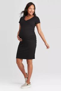 Womens Dress SmalI Ingrid&Isabel Maternity Short Sleeve T-Shirt Maternity Dress