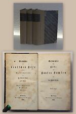 Vehse Geschichte der Höfe des Hauses Sachsen 3 Bde Erstausgabe 1854 Landeskunde