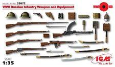 Armes ét équipement pour infanterie Russe WW1 1/35 ICM