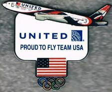 Nice 2016 Rio United Airlines USA Olympic Team NOC Sponsor Collector Pin