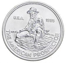 1985 Engelhard American Prospector Silver Round 1 Troy Oz .999 Fine *032
