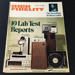 VTG High Fidelity Magazine March 1974 - Ace Audio Zero-Distortion Preamp