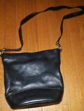 Fossil long live vintage 1954 pebble leather black medium bag purse crossbody