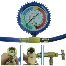 "R12/R22 Can Tap with Gauge - R-134a Can to R-12/R-22 Port 20"" long hose"
