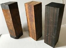 1 Ea Of Macassar Ebony Marblewood & Cocobolo Hardwoods For Woodworking Projects