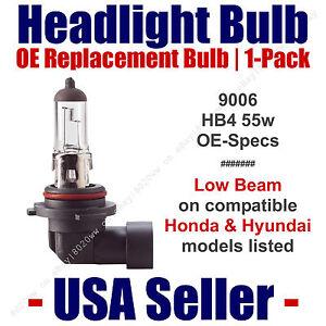 Headlight Bulb Low Beam OE Replacement Fits Listed Honda & Hyundai Models - 9006