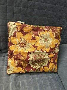 "Storehouse 20"" Square Rustic Floral Pillow Cover"