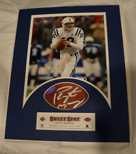 Peyton Manning Autographed Signed Sweet Spot Matted Photo/Football Display UDA